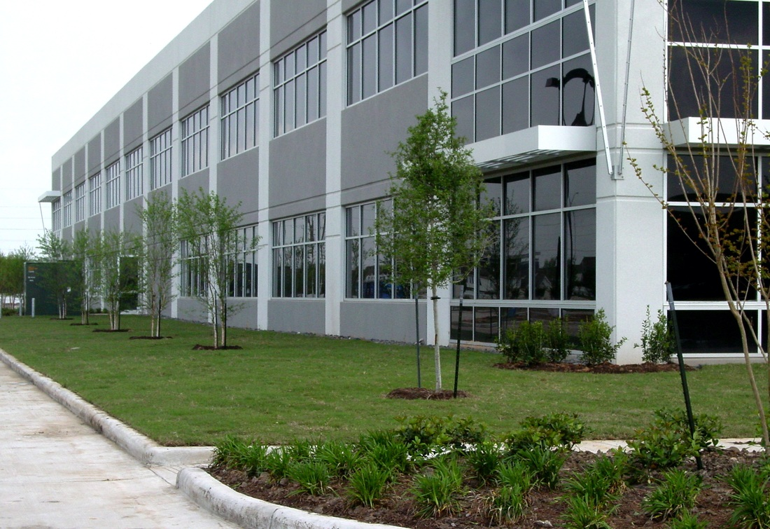 Office buildings industrial onesource landscape for Exterior design office buildings